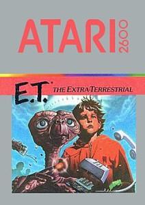 Jaquette ET sur Atari 2600